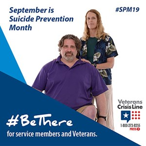 Be There for Veterans Suicide web site